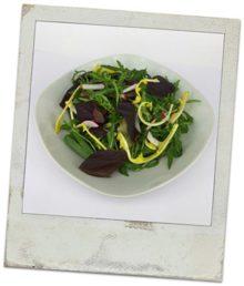 Salatvorschlag mit Bärlauch